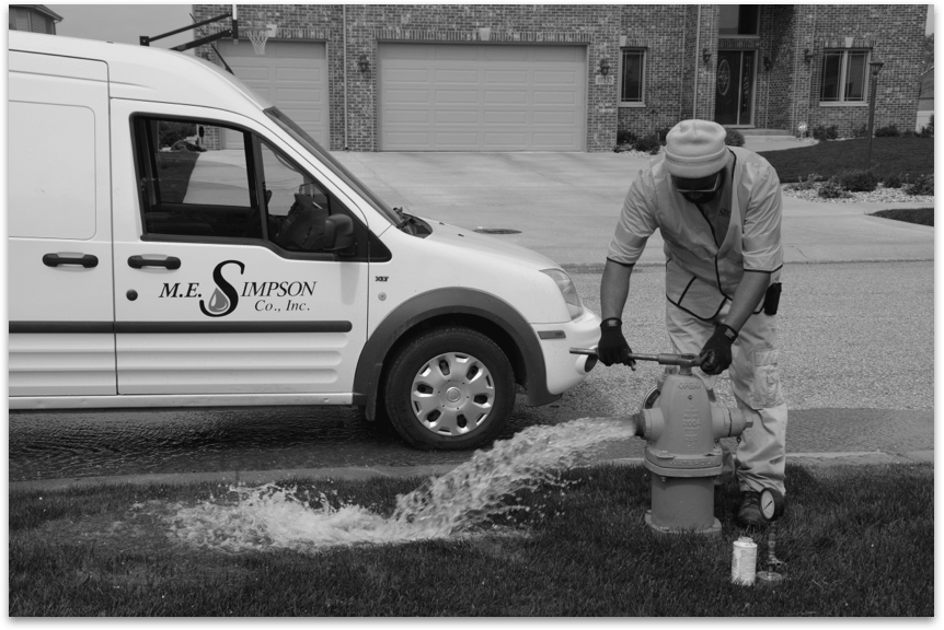 ME Simpson services expanded in the 1980s to include pitot testing, hydrant flow testing and more water management services.