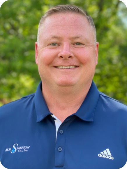 ME Simpson has a great team in place to assist you with water management including ME Simpson Regional Manager Joe Nepras.