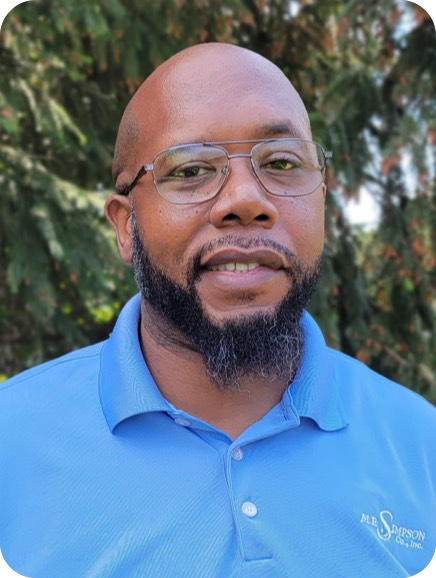 ME Simpson considers having the right team key for our services including Operations Manager Terrence Williams, MBA